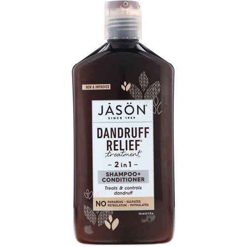 Jason Natural, Dandruff Relief Treatment, 2 in 1, Shampoo + Conditioner, 12 fl oz (355 ml) Review