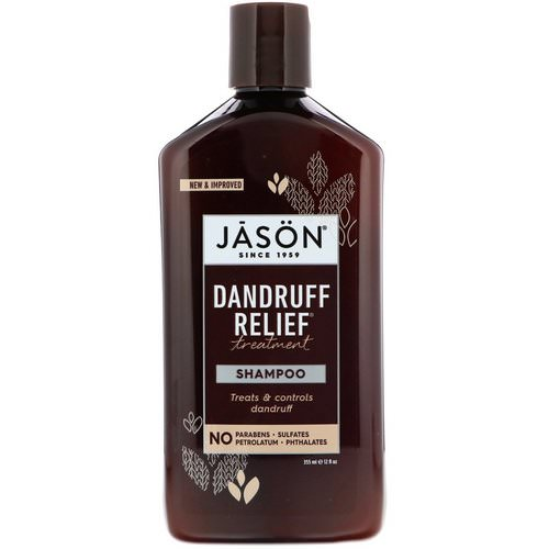 Jason Natural, Dandruff Relief Treatment Shampoo, 12 fl oz (355 ml) Review
