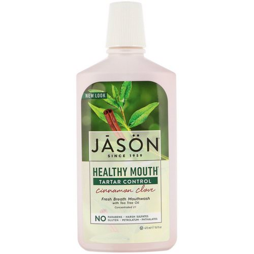 Jason Natural, Healthy Mouth, Fresh Breath Mouthwash, Tartar Control, Cinnamon Clove, 16 fl oz (473 ml) Review