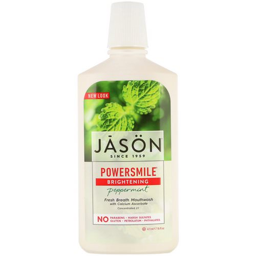 Jason Natural, Powersmile, Brightening Mouthwash, Peppermint, 16 fl oz (473 ml) Review