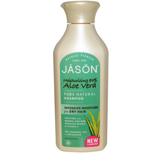 Jason Natural, Pure Natural Shampoo, Aloe Vera, 16 fl oz (473 ml) Review