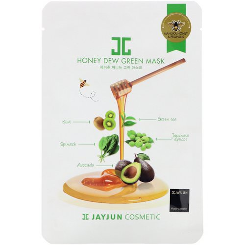 Jayjun Cosmetic, Honey Dew Green Mask, 1 Mask, 25 ml Review