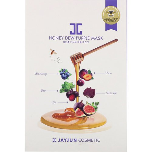 Jayjun Cosmetic, Honey Dew Purple Mask, 5 Masks, 25 ml Each Review
