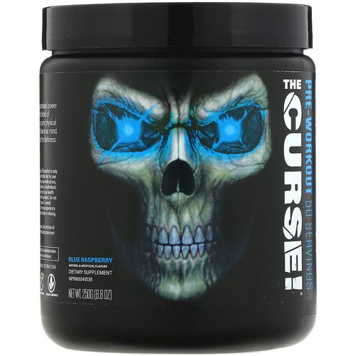 JNX Sports, The Curse, Pre-Workout, Blue Raspberry, 8.8 oz (250 g) Review