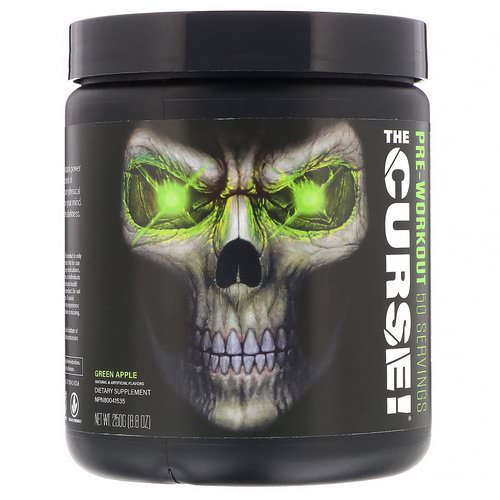 JNX Sports, The Curse, Pre-Workout, Green Apple, 8.8 oz (250 g) Review