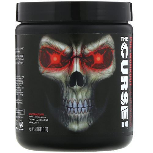 JNX Sports, The Curse, Pre-Workout, Watermelon, 8.8 oz (250 g) Review