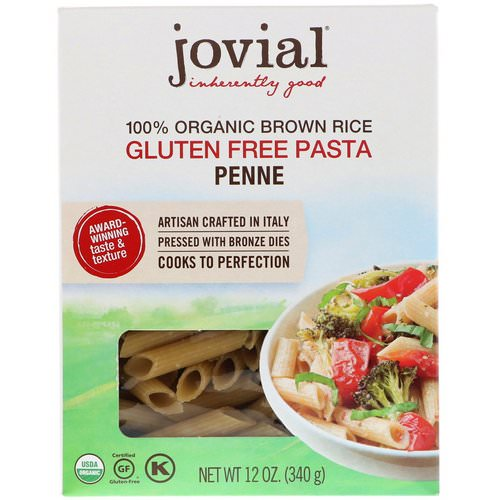Jovial, 100% Organic Brown Rice Pasta, Penne, 12 oz (340 g) Review