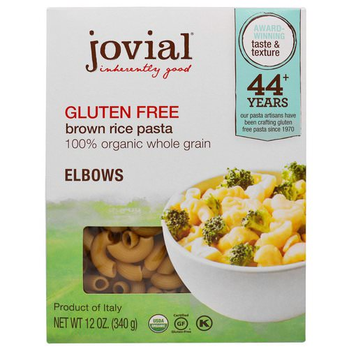 Jovial, Organic Brown Rice Pasta, Elbows, Gluten Free, 12 oz (340 g) Review