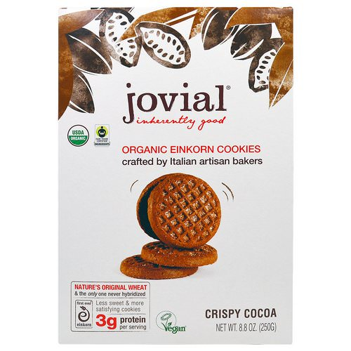 Jovial, Organic Einkorn Cookies, Crispy Cocoa, 8.8 oz (250 g) Review