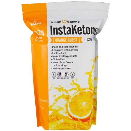 Julian Bakery, InstaKetones, Orange Burst + Caffeine, 1.16 lbs (525 g) Review