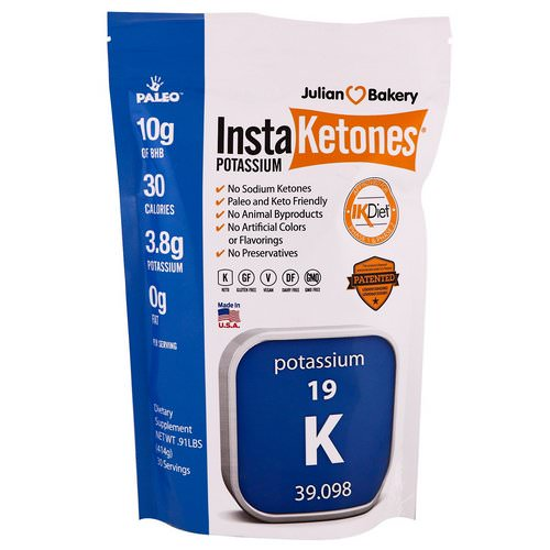 Julian Bakery, InstaKetones Potassium, .91 lbs (414 g) Review