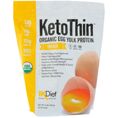 Julian Bakery, Keto Thin, Organic Egg Yolk Protein, Yolked, 2 lbs (907 g) Review