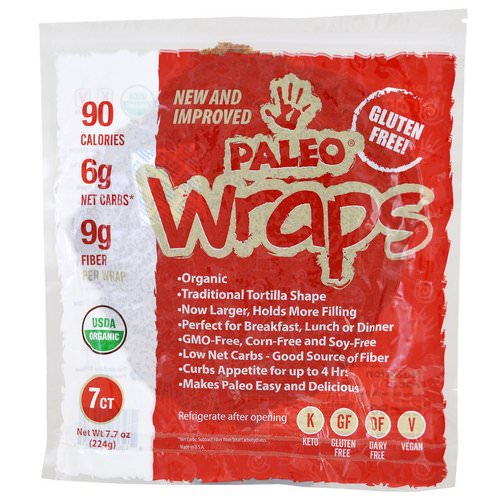 Julian Bakery, Organic Paleo Wraps, 7 Wraps, 7.7 oz (224 g) Review