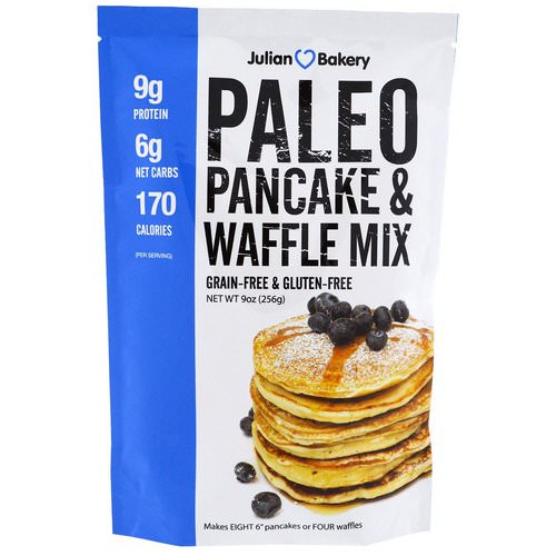 Julian Bakery, Paleo Pancakes and Waffle Mix, 9 oz (256 g) Review