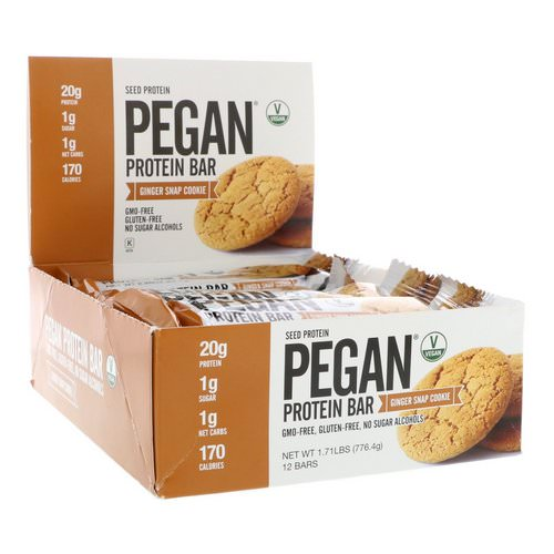 Julian Bakery, Pegan Protein Bar, Seed Protein, Ginger Snap Cookie, 12 Bars, 2.28 oz (64.7 g) Each Review