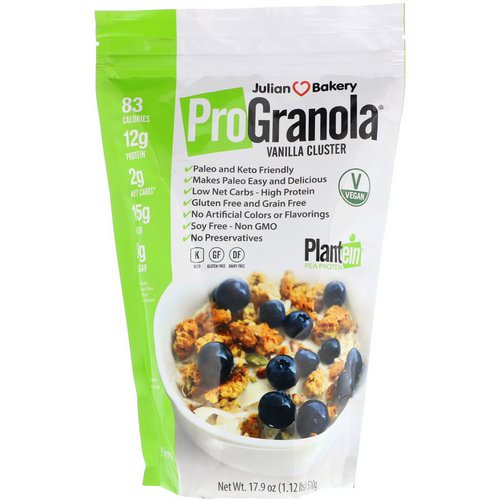 Julian Bakery, Pro Granola, Vanilla Cluster, 17.9 oz (510 g) Review