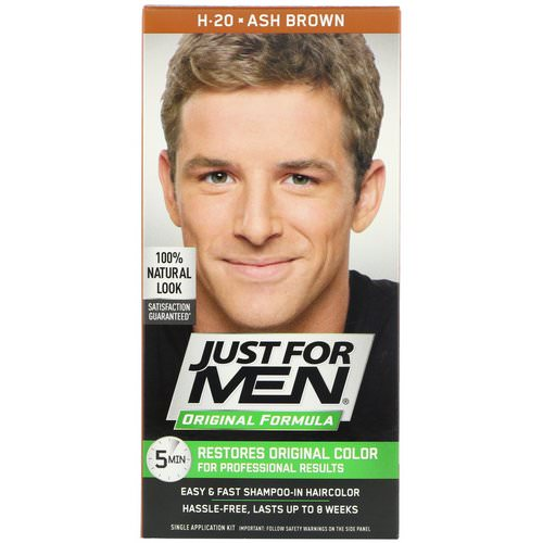 Just for Men, Original Formula Men's Hair Color, H-20 Ash Brown, Single Application Kit Review