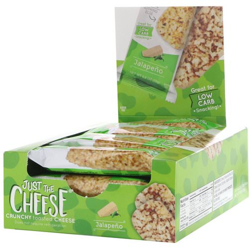 Just The Cheese, Jalapeno Bars, 12 Bars, 0.8 oz (22 g) Review