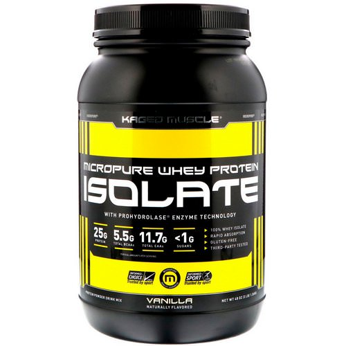 Kaged Muscle, MicroPure Whey Protein Isolate, Vanilla, 3 lbs (1.36 kg) Review