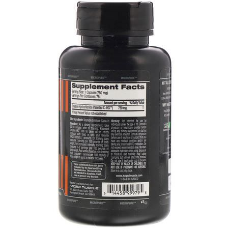 Creatine HCl, Creatine, Muscle Builders, Sports Nutrition