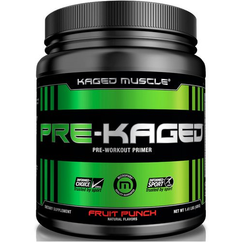 Kaged Muscle, Pre-Kaged, Pre-Workout Primer, Fruit Punch, 1.41 lbs (640 g) Review