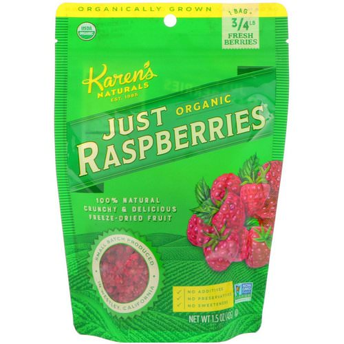 Karen's Naturals, Organic Just Raspberries, 1.5 oz (42 g) Review