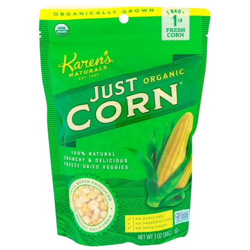 Karen's Naturals, Organic Just Corn, 3 oz (84 g) Review