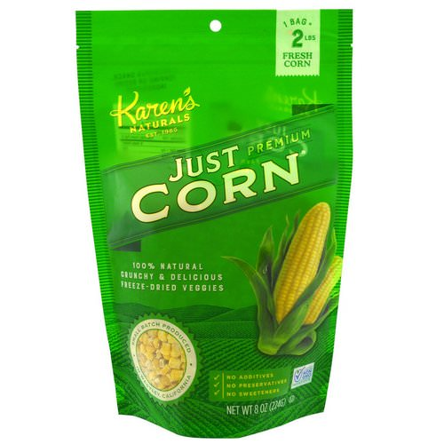 Karen's Naturals, Premium Freeze-Dried Veggies, Just Corn, 8 oz (224 g) Review