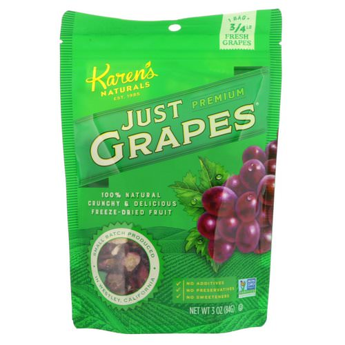 Karen's Naturals, Premium, Just Grapes, 3 oz (84 g) Review