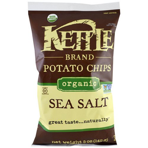 Kettle Foods, Organic Potato Chips, Sea Salt, 5 oz (142 g) Review