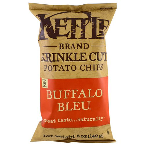 Kettle Foods, Potato Chips, Buffalo Bleu, 5 oz (142 g) Review