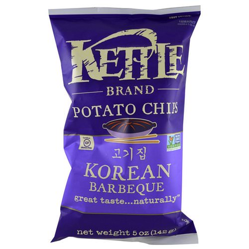 Kettle Foods, Potato Chips, Korean Barbeque, 5 oz (142 g) Review