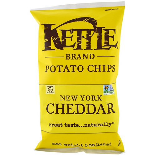 Kettle Foods, Potato Chips, New York Cheddar, 5 oz (142 g) Review