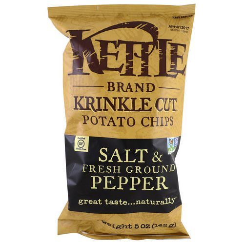 Kettle Foods, Potato Chips, Salt & Fresh Ground Pepper, 5 oz (142 g) Review