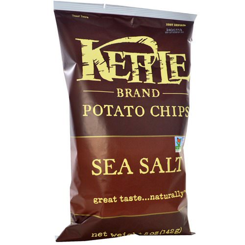Kettle Foods, Potato Chips, Sea Salt, 5 oz (142 g) Review