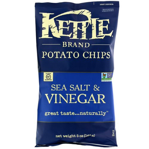 Kettle Foods, Potato Chips, Sea Salt & Vinegar, 5 oz (142 g) Review