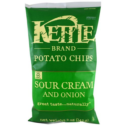 Kettle Foods, Potato Chips, Sour Cream and Onion, 5 oz (142 g) Review