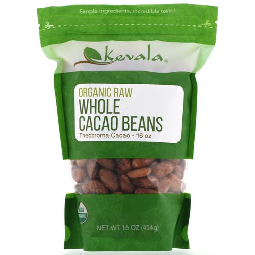 Kevala, Organic Raw Whole Cacao Beans, 16 oz (454 g) Review