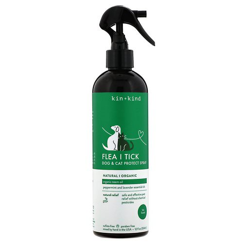 Kin+Kind, Flea and Tick, Dog & Cat Protect Spray, 12 fl oz (354 ml) Review