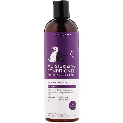 Kin+Kind, Moisturizing Conditioner, for Itchy Dogs & Cats, Unscented, 12 fl oz (354 ml) Review