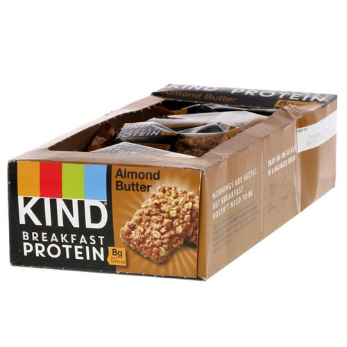KIND Bars, Breakfast Protein, Almond Butter, 8 Pack of 2 Bars, 1.76 oz (50 g) Each Review