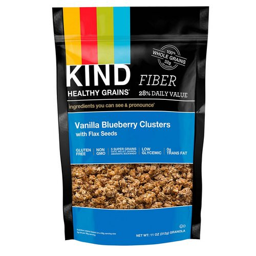 KIND Bars, Healthy Grains, Vanilla Blueberry Clusters with Flax Seeds, 11 oz (312 g) Review