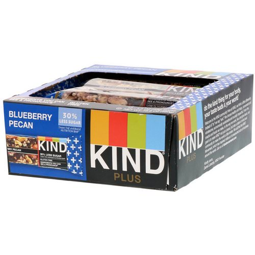 KIND Bars, Kind Plus, Blueberry Pecan, 12 Bars, 1.4 oz (40 g) Each Review