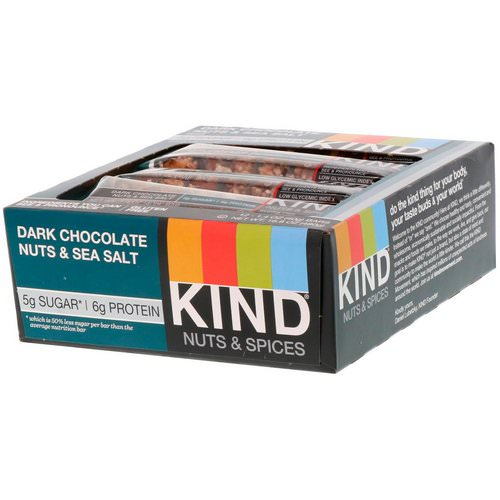 KIND Bars, Nuts & Spices, Dark Chocolate Nuts & Sea Salt, 12 Bars, 1.4 oz (40 g) Each Review