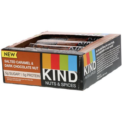 KIND Bars, Nuts & Spices, Salted Caramel & Dark Chocolate Nut, 12 Bars, 1.4 oz (40 g) Each Review