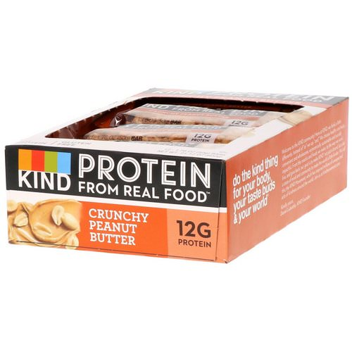 KIND Bars, Protein Bars, Crunchy Peanut Butter, 12 Bars, 1.76 oz (50 g) Each Review