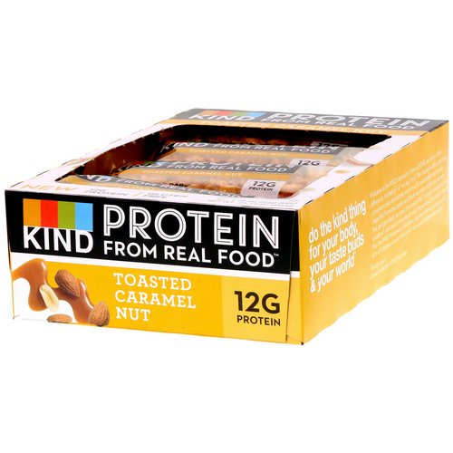 KIND Bars, Protein Bars, Toasted Caramel Nut, 12 Bars, 1.76 oz (50 g) Each Review