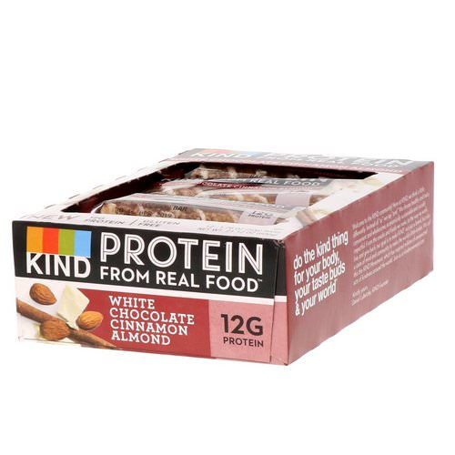 KIND Bars, Protein Bars, White Chocolate Cinnamon Almond, 12 Bars, 1.76 oz (50 g) Each Review