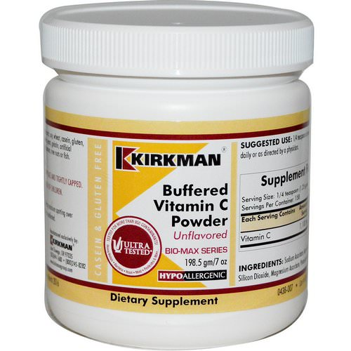 Kirkman Labs, Buffered Vitamin C Powder, Unflavored, 7 oz (198.5 g) Review