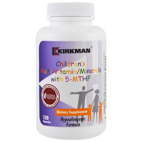 Kirkman Labs, Children's Multi Vitamin/Minerals with 5-MTHF, 120 Capsules Review